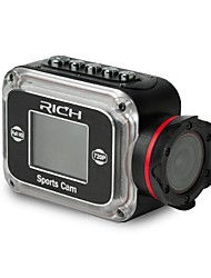 RICH HD SPORTS CAMERA 140°WIDE ANGLE LENS 2.0MEGA PIXEL COMS HD SENSOR 720P 60FPS  1.5LCD SCREEN