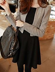 Women's Work Medium Long Sleeve Short Blazer Suits (Coat&Dress)