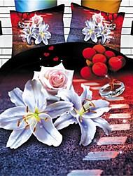 incredibile 3d trapunte girasole seducenti 4 pc assestamento imposta 100% federe foglio trapunta tessuto duvet letto copertina
