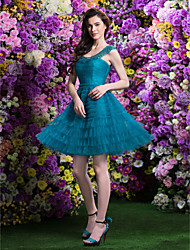 Homecoming TS Couture Knee-length Tulle Bridesmaid Dress - Jade A-line/Princess Scoop