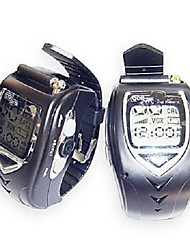 22 Channels Sliver Wrist Watch Style A Pair Walkie Talkie with Big Backlight LCD Screen
