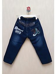 de dibujos animados de moda impreso pantalones vaqueros de algodón del muchacho