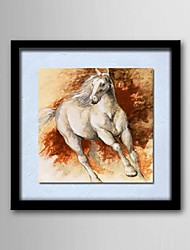 Oil Painting Animals Horses Hand-Painted Canvas Solid Wood Frame Frameless Paintings