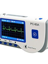 curar fuerza de color digital de mini-pc portátil 80a diente azul ekg del ecg monitor de electrocardiograma portátil Inglés ver.