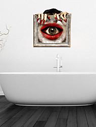 Adesivos de parede adesivos de parede 3d, 3d banheiro olho parede decoração mural pvc adesivos