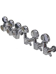 3R+3L Chrome Tuning Pegs Machine Heads tuner for Electric Guitar