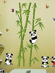 Panda amovible de l'environnement et de bambou balises pvc&autocollant
