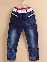 Boy's Fashion Cute Cartoon Painted Cowboy Pants