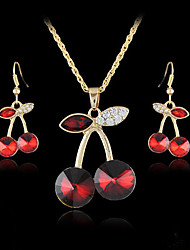 Women's European and American fashion major suit Earrings Necklace Set(1 set)8586-6