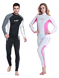 UPF 50+ 2 Piece Tankinis Snorkeling Diving Skin Suits Suntan Proof Anti-UV Wear Surfing Cycling Sports Swim Clothes