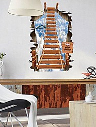 Environmental Removable 3D Ladder PVC Wall Sticker
