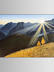 IARTS Oil Painting Modern Landscape Mountain Sunrise Hand Painted Canvas with Stretched Frame