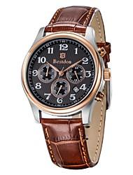 BESTDON BD9918G Men's Fashionable Waterproof Quartz Wrist Watch with Three Small Dials(1*CR927)