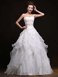 A-line Sweetheart Floor-length Wedding Dress