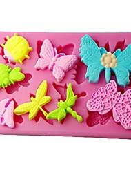 Vier c Silikonform Tasten und Knoten Tasse Kuchenform Farbe Rosa