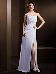 Lanting Sheath/Column Wedding Dress - White Floor-length Straps Chiffon