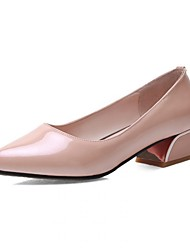 Women's Shoes Pointed Toe Chunky Heel Patent Leather Pumps Shoes More Colors available