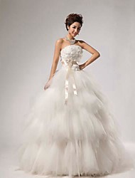 Ball Gown Wedding Dress Floor-length Strapless Lace with