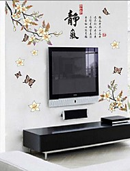 Removable Chinese Style Peach Blossom Shaped Wall Sticker