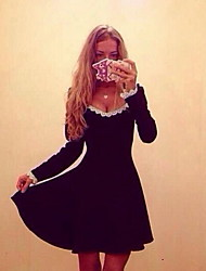 más reciente es sexy vestido de cuello redondo de las mujeres qiansy