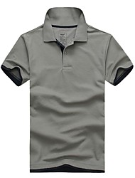 Men's Short Sleeve Polo , Cotton/Polyester Casual/Work/Sport Pure