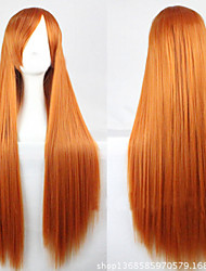 The New Cartoon Golden Long Straight Hair Wig 80CM