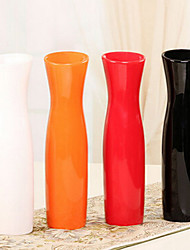 "11.8""H Modern Style White Ceramic Vase Cylindrical Vase"
