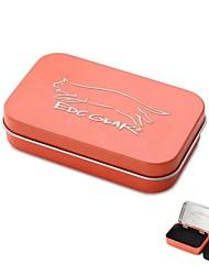 edcgear metalen opbergbox geval voor sigaretten - oranje