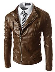 D.O.S Men's Casual Long Sleeve Coats & Jackets (PU)