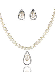 Elegant Ladies'/Women's Wedding/Party Jewelry Set With Pearl
