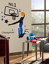 Environmental Basketball Player PVC Wall Sticker