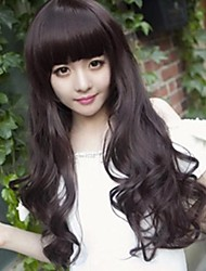 Youth beautiful beautiful big wavy brown long curly black hair