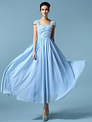 Sagetech®Women's Slim Elegent Long Lace Chiffon Dress