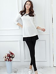 Maternity Cute Mini Skirts , Others Stretchy Thin