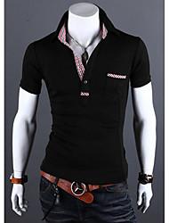 Hugo Men's Casual Shirt Collar Short Sleeve T-Shirts