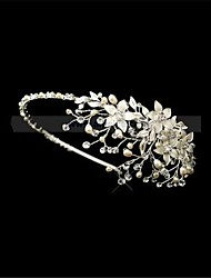 Floral Design Pearl And Rhinestone Bridal Headbands Vinatge Wedding Tiara