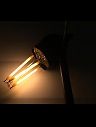 4W E12 Ampoules à Filament LED CA35 4 COB 400 lm Blanc Chaud Gradable AC 110-130 V 5 pièces