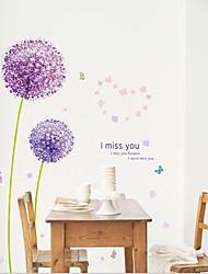 pissenlit violet sticker mural PVC amovible environnement