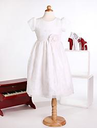 Princess Tea-length Flower Girl Dress - Tulle