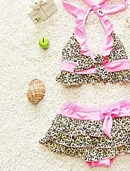 Girl's Leopard Swimwear
