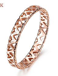 OPK®Elegant Ms 18 K Rose Gold Plated Heart Ring