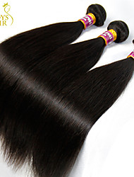 "4Pc Lot 8-30"" Unprocessed Raw Virgin Indian Straight Hair Weft Natural Black Indian Human Hair Weave Bundles Tangle Free"
