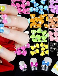 Cartoon/Lovely Finger/Toe/Other Decoration kit Acrylic 60PCS Nail Decorations