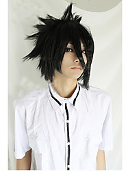 Angelaicos Men Death Note Sasuke Uchiha Boys Black Short Layered Harajuku Halloween Party Costume Cosplay Wig