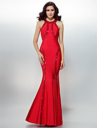 TS Couture® Formal Evening / Black Tie Gala Dress Plus Size / Petite Sheath / Column Jewel Floor-length Jersey with Sequins