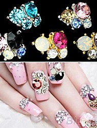 Black Lovely/Wedding Finger/Toe Nail Jewelry/Glitter Metal 5PCS 4*3*1