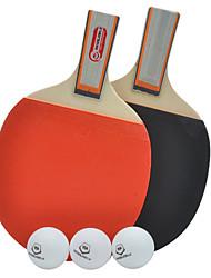 WinMax duráveis 2 estrelas pás tênis de mesa cabo curto (um pares) com 3 bolas de ping-pong