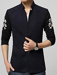 Men's Long Sleeve Jacket , Cotton Casual/Work/Formal