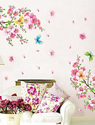 Botánico Romance Naturaleza muerta De moda Florales Pegatinas de pared Calcomanías de Aviones para Pared Calcomanías Decorativas de Pared