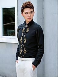 Shirts Classic (Semi-Spread) Long Sleeve Cotton/Polyester Black